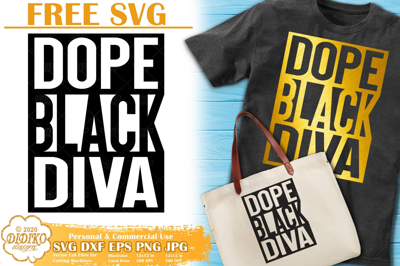 Black Diva SVG Free | Black Woman Svg | Dope Svg