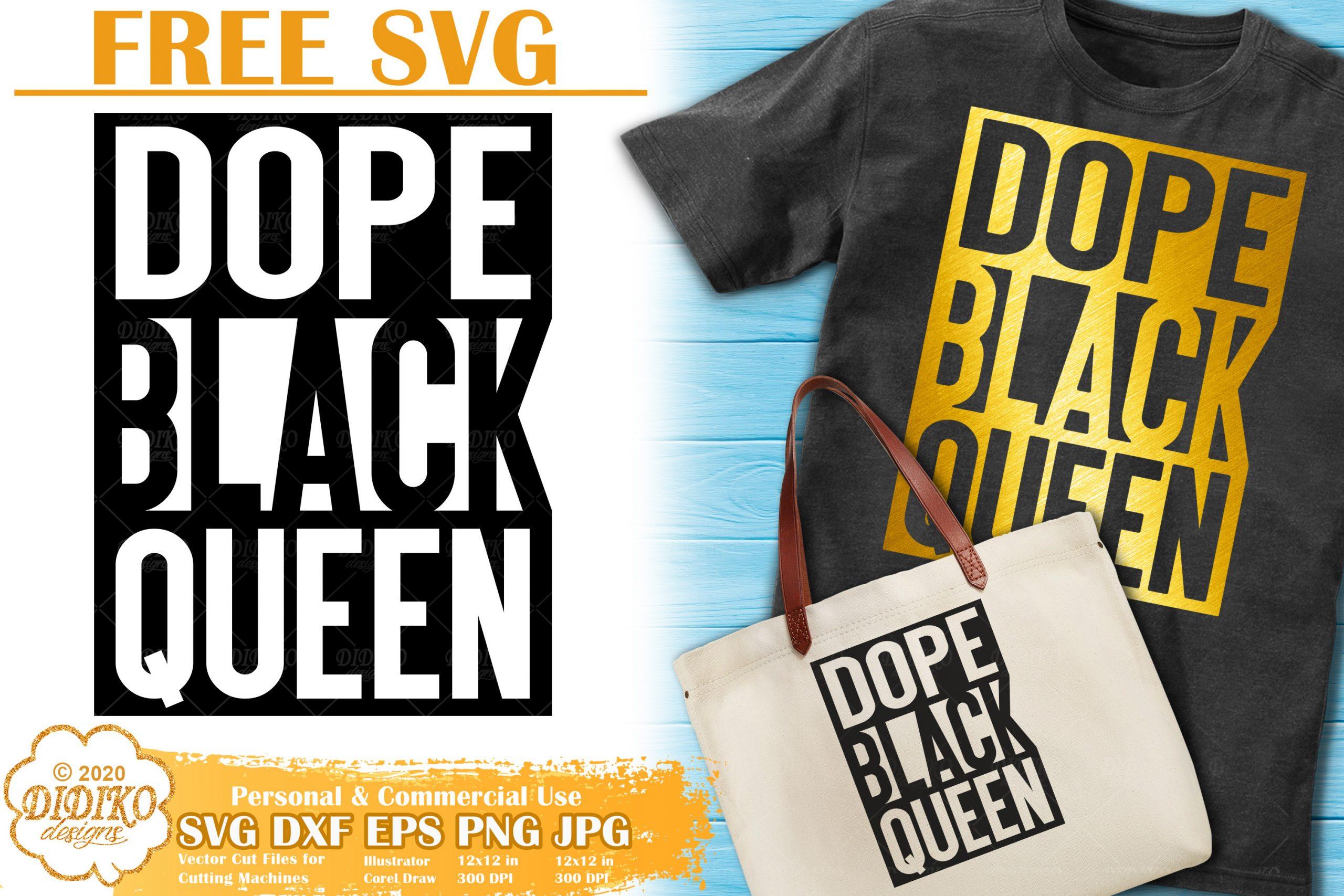 Download Black Queen SVG Free | Black Woman Svg | Dope Svg | DIDIKO ...