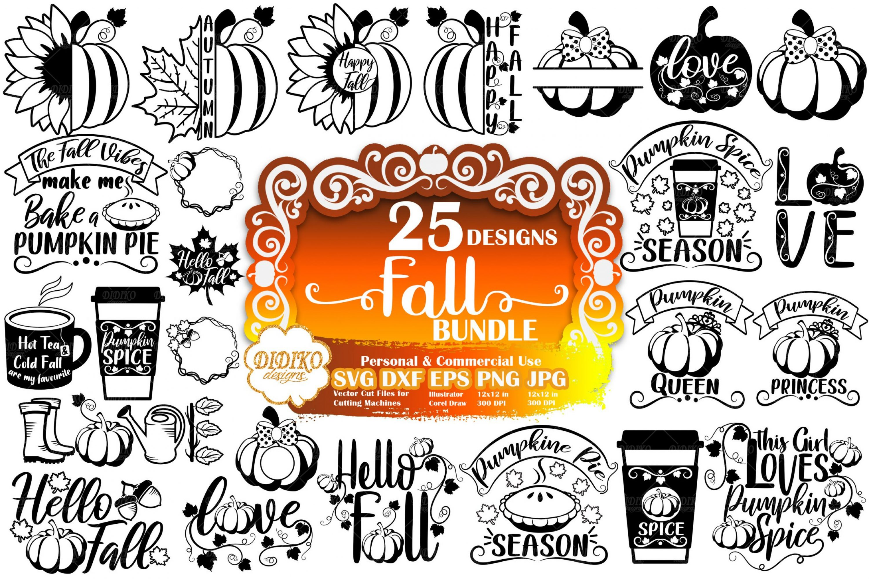 Fall Bundle SVG | Autumn SVG Bundle | Pumpkin SVG