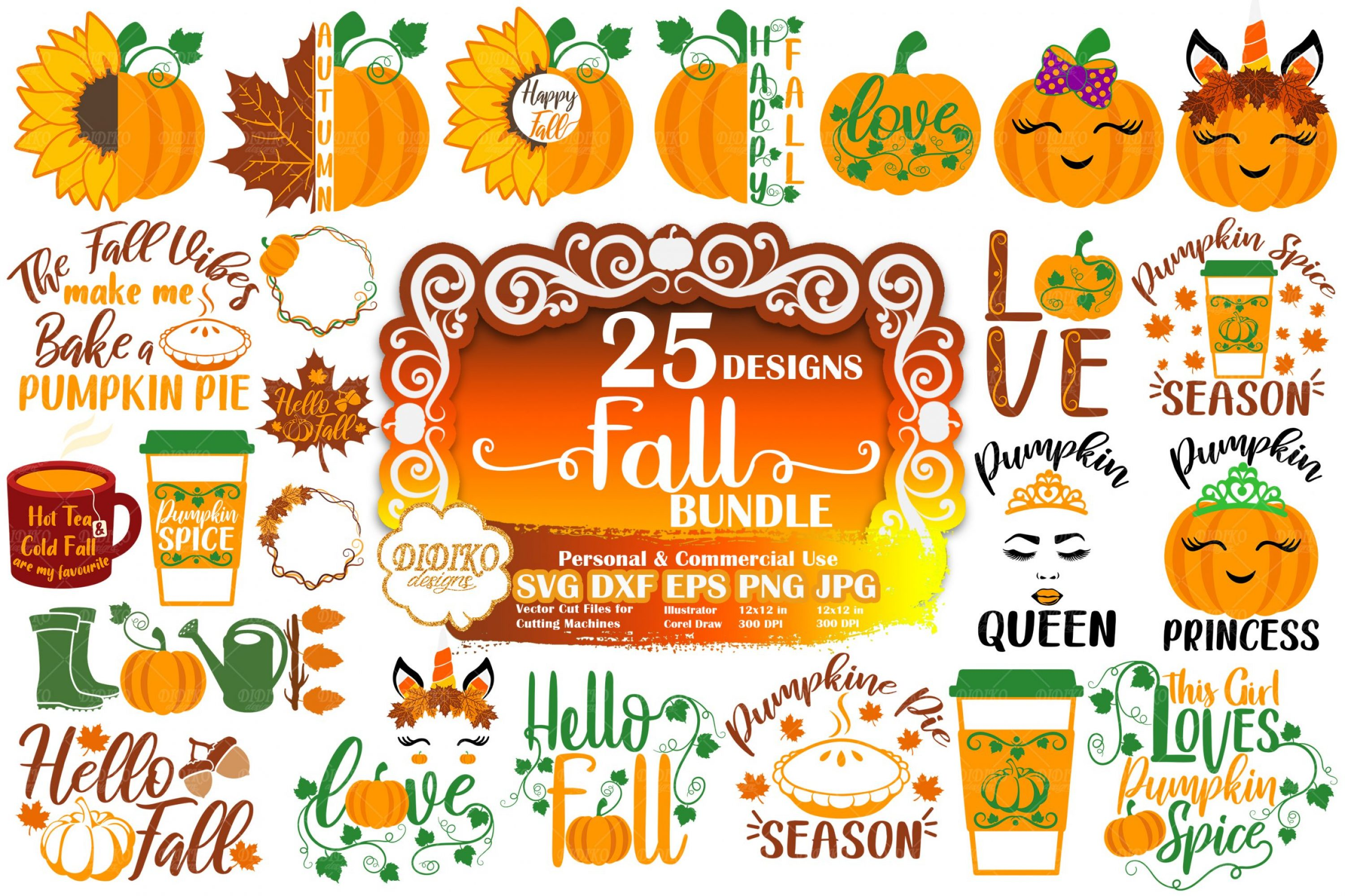 Fall SVG Bundle | Autumn SVG Bundle | Pumpkin SVG
