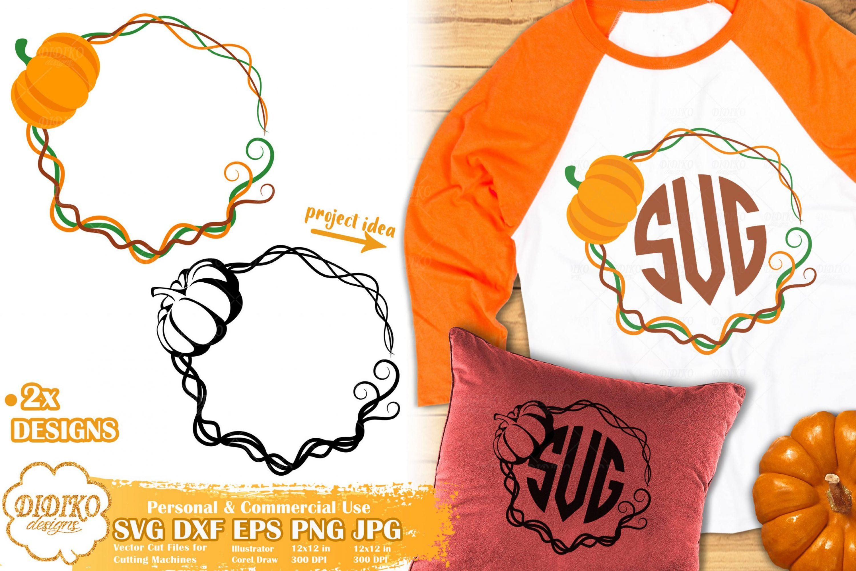 Pumpkin Monogram SVG | Fall Frame Svg | Autumn Svg