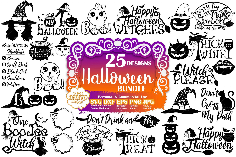 Halloween Svg Bundle Witch Svg Bundle Pumpkin Svg Didiko Designs
