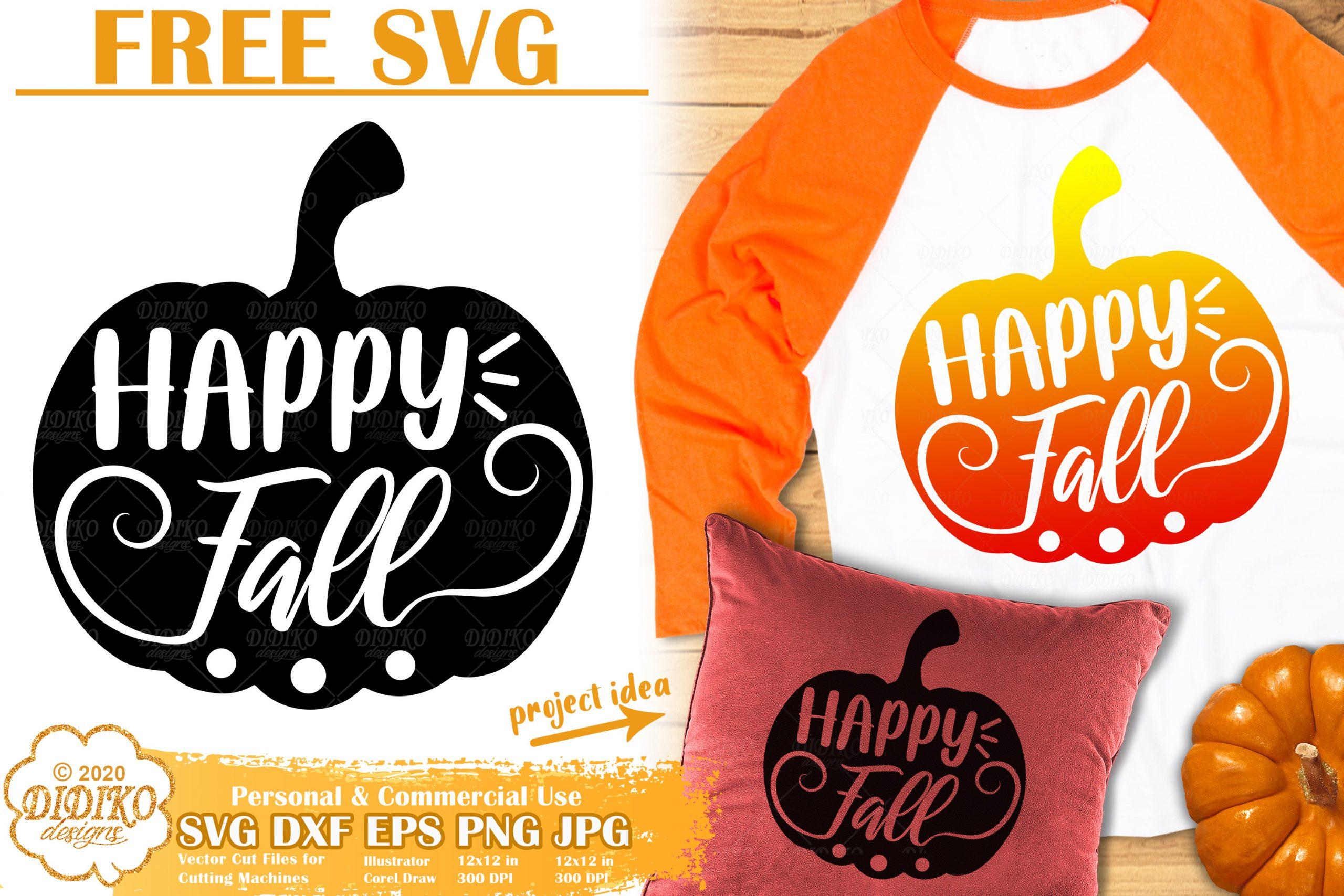 Free Pumpkin Svg Fall Svg Free Autumn Cut File Didiko Designs