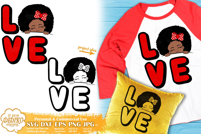 Peek a Boo Girl SVG #15 | Valentine Svg | Black Girl Svg