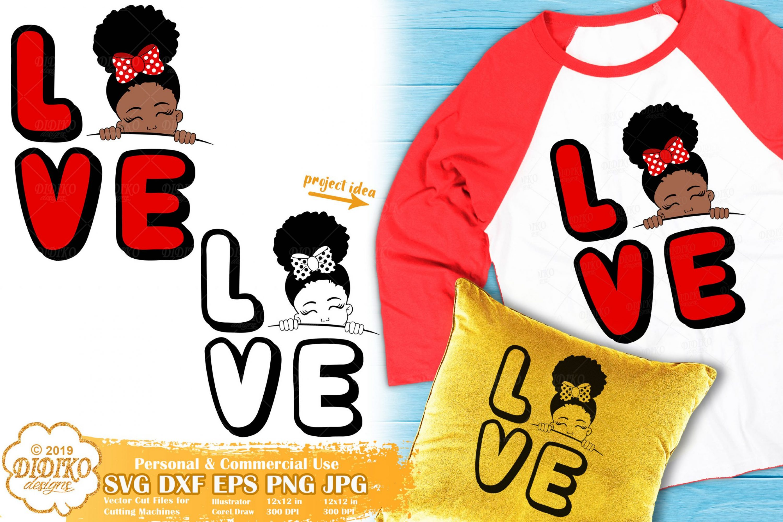 Peek a Boo Girl SVG #14 | Valentine Svg | Black Girl Svg