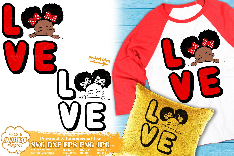 Peek a Boo Girl SVG #13 | Valentine Svg | Black Girl Svg