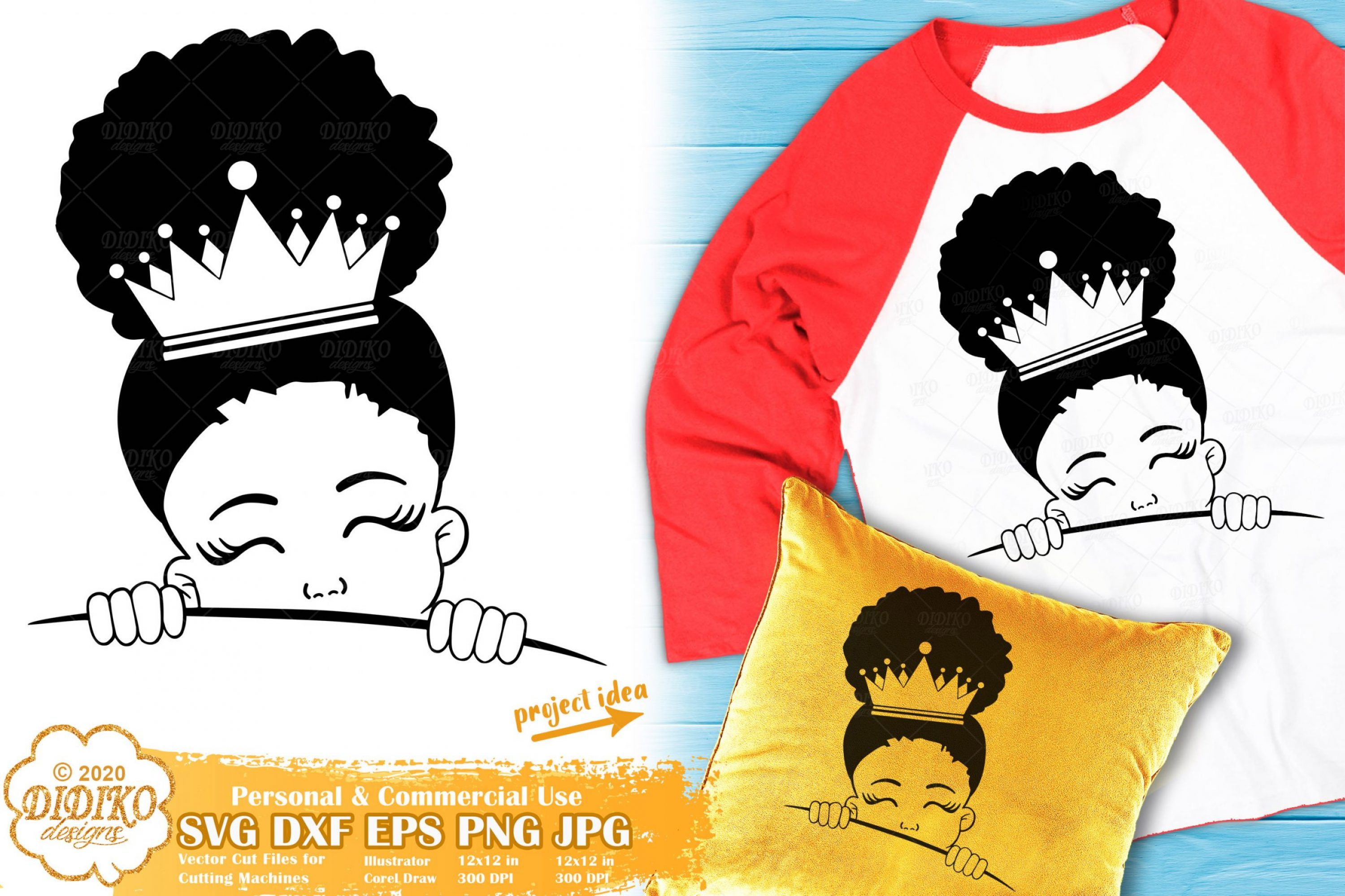 Peek a Boo SVG #18 | Black Girl Svg | Afro Princess Svg