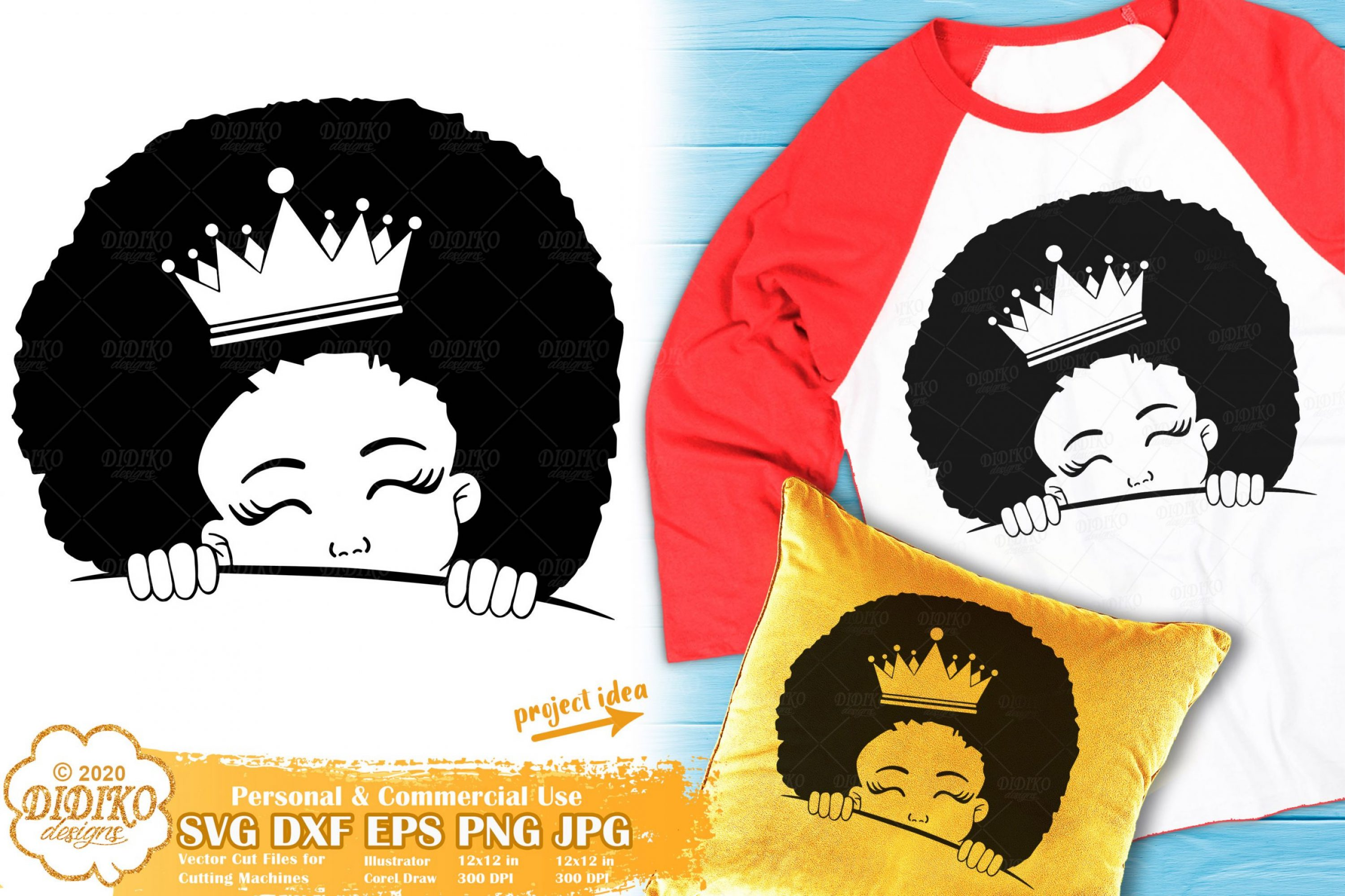 Peek a Boo SVG #19 | Black Girl Svg | Afro Princess Svg