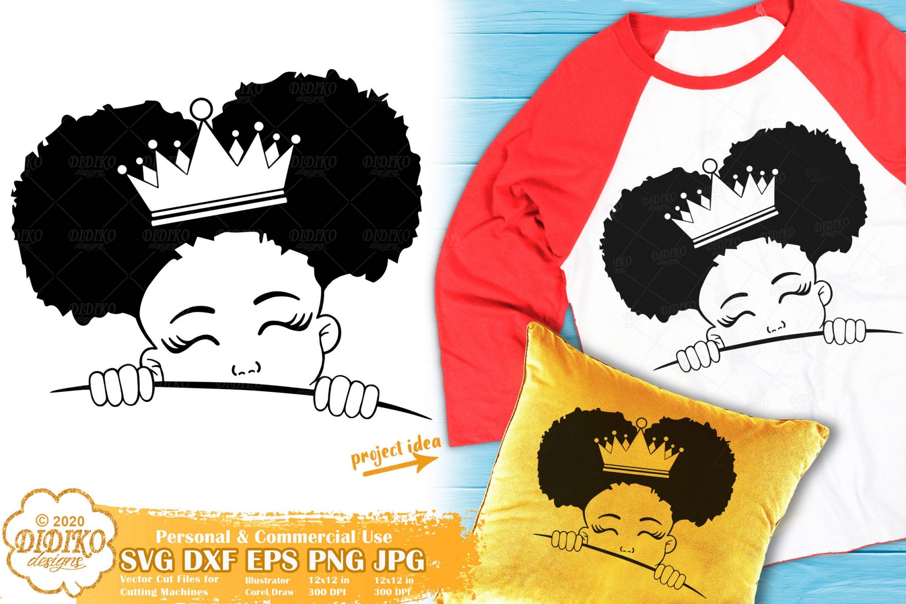 Peek a Boo SVG #17 | Black Girl Svg | Afro Princess Svg