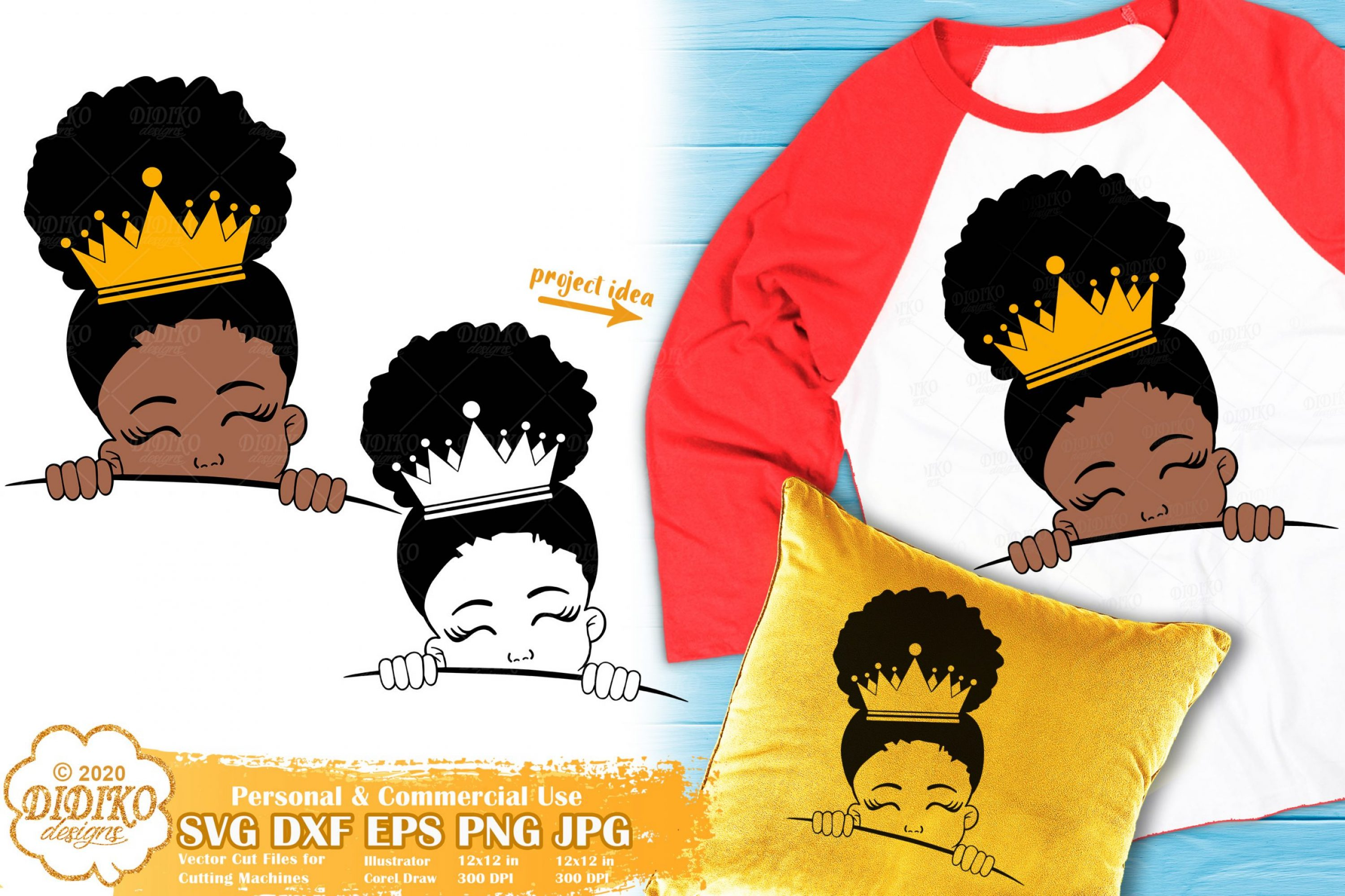 Peek a Boo Girl SVG #18 | Black Princess Svg | Afro Girl