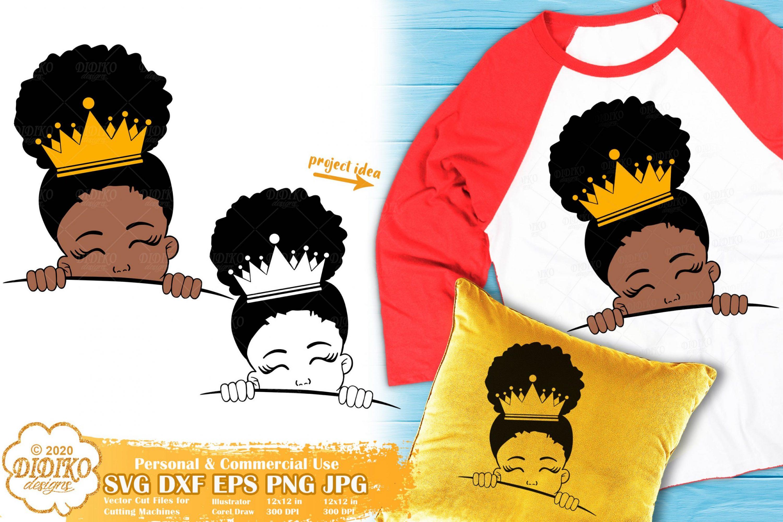 Peek a Boo Girl SVG #18 | Black Princess Svg | Afro Girl