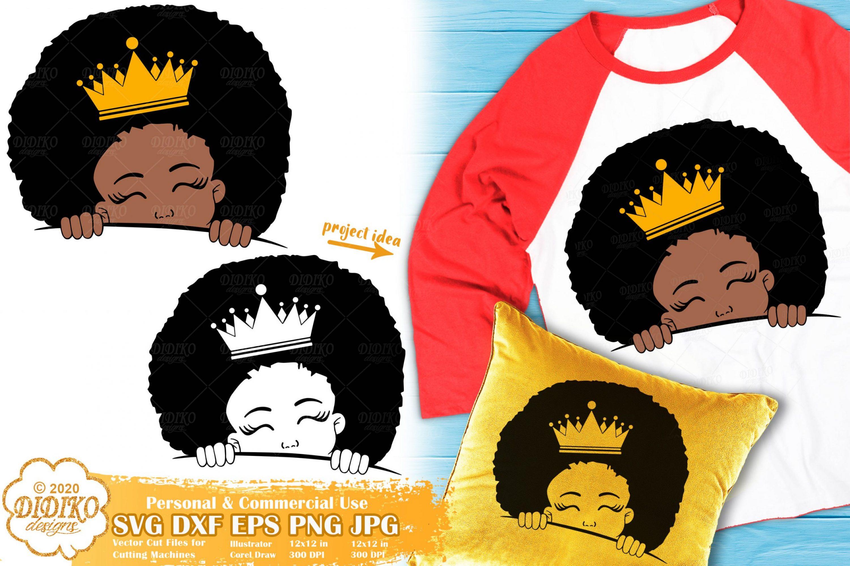 Peek a Boo Girl SVG #19 | Black Princess Svg | Afro Girl