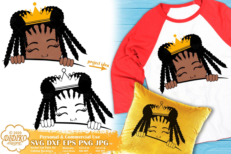 Peek a Boo Girl SVG #20 | Black Princess Svg | Afro Girl