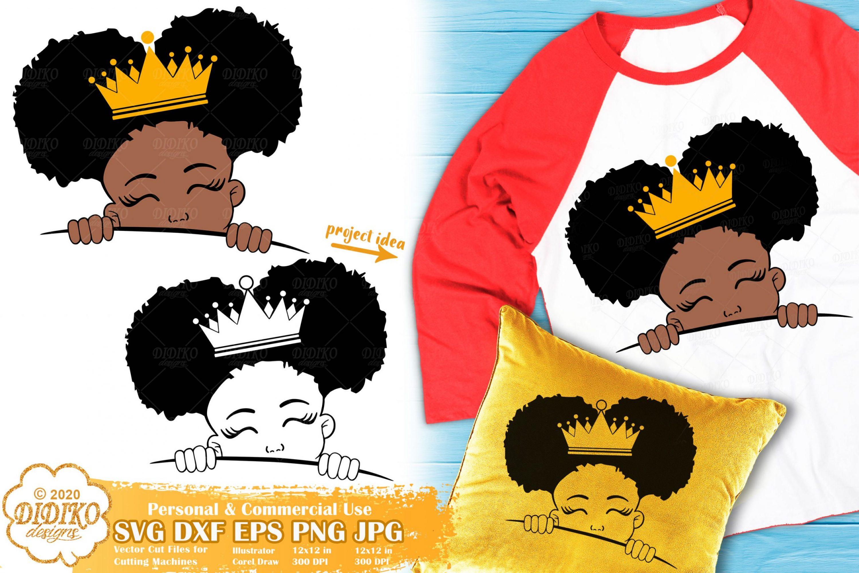 Peek a Boo Girl SVG #17 | Black Princess Svg | Afro Girl