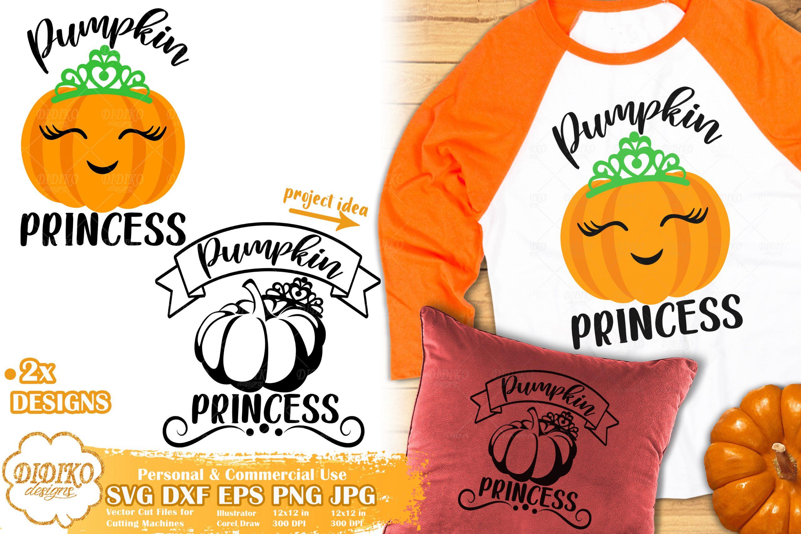 Pumpkin Princess Svg Halloween Svg Pumpkin Girl Didiko Designs