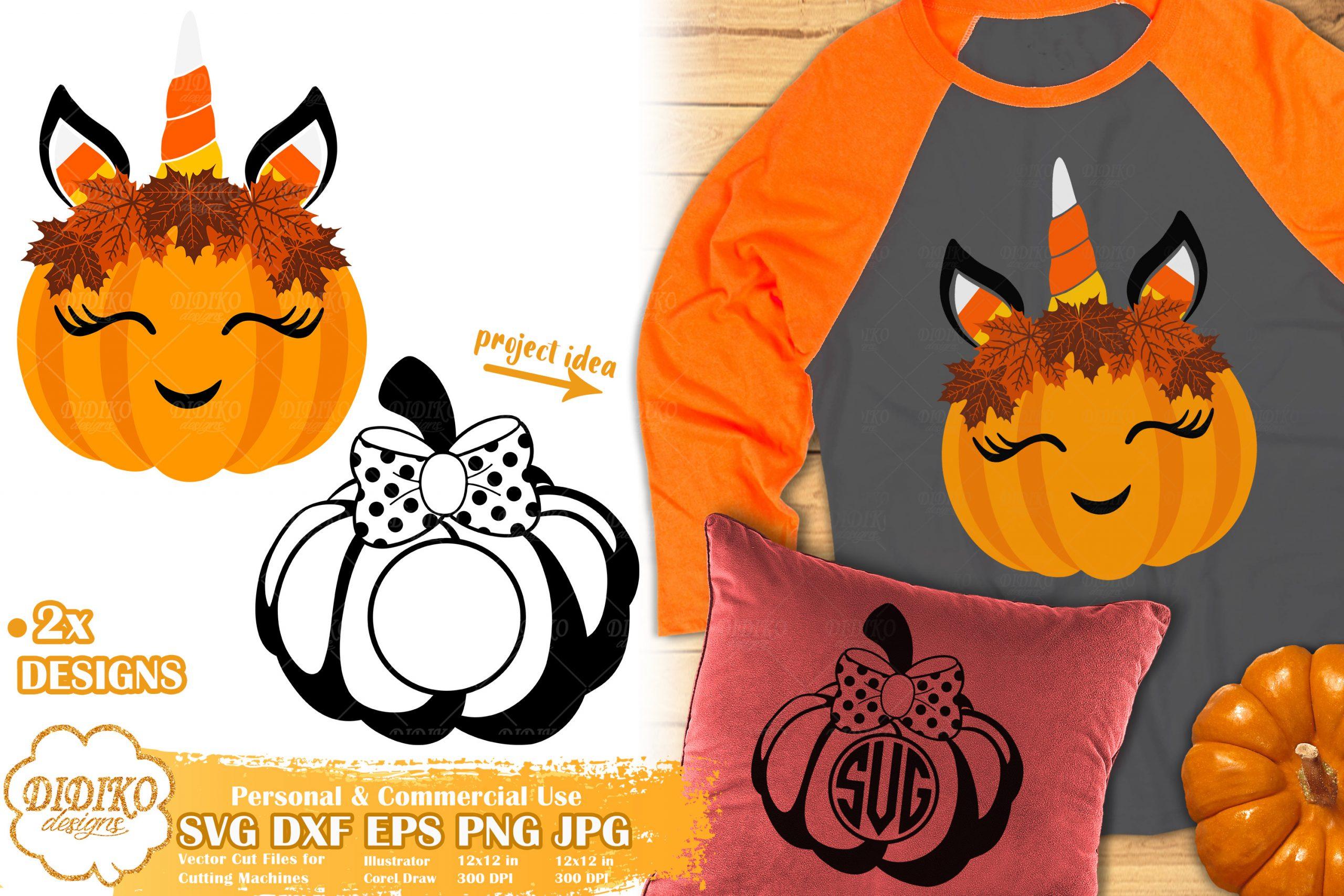 Pumpkin Unicorn SVG