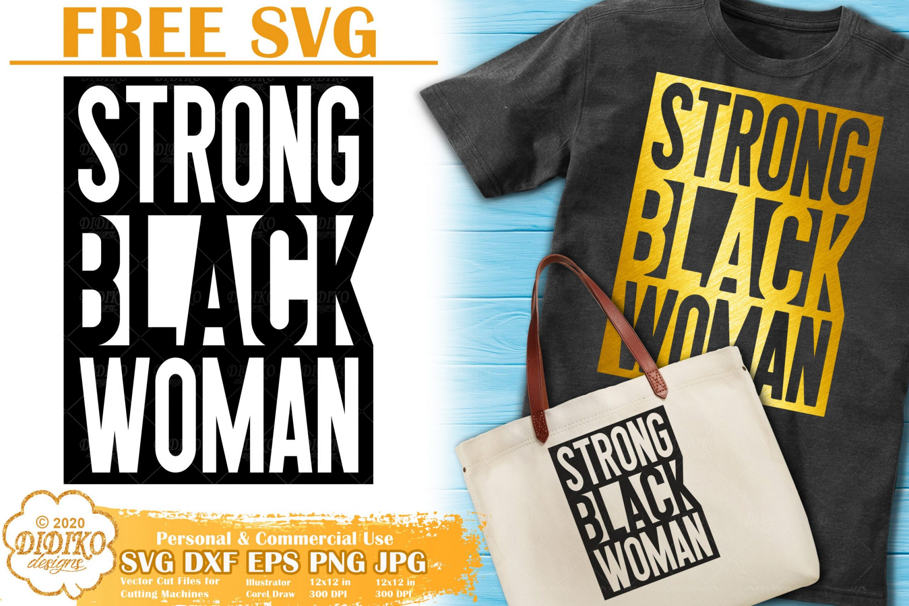 Black Woman SVG Free | Strong woman svg | Girl power