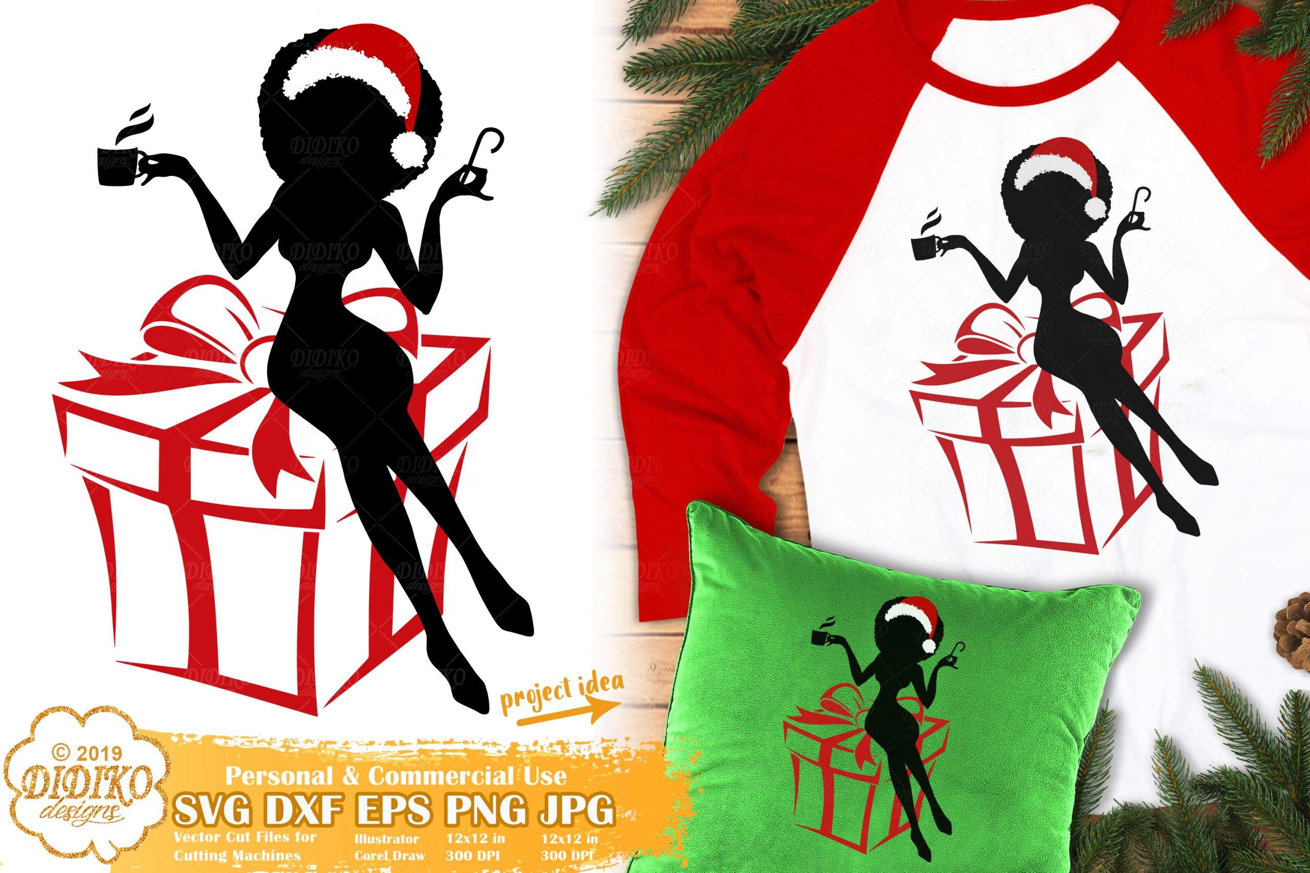 Christmas Black Woman SVG #4