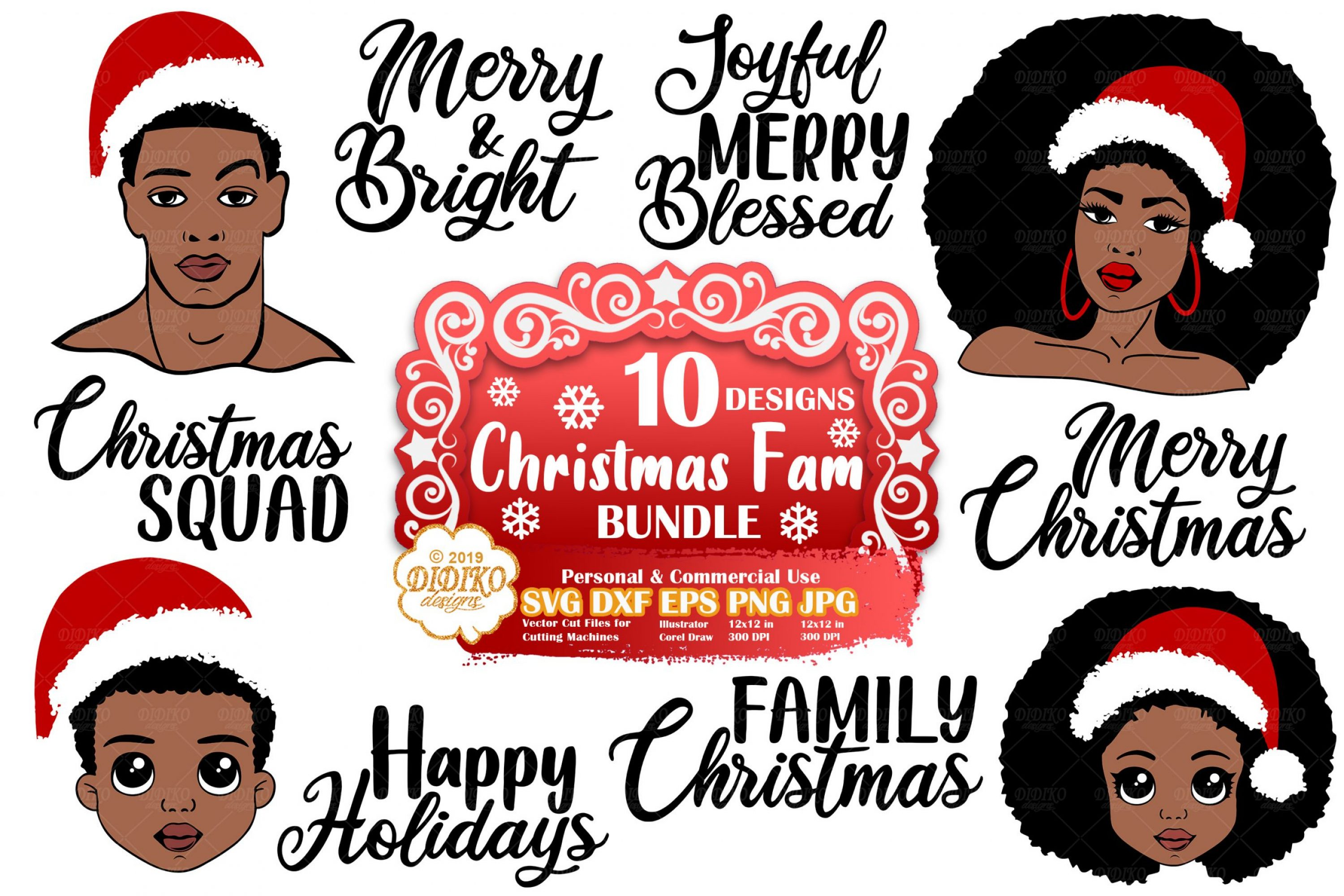 Christmas SVG Bundle | Black Woman SVG Bundle