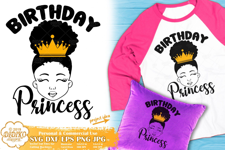 Black Girl SVG #10 | Birthday Girl SVG | Afro Girl SVG