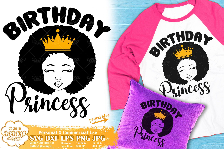Black Girl SVG #11 | Birthday Girl SVG | Afro Girl SVG