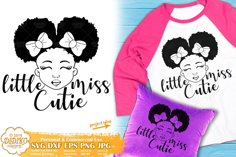 Little Black Girl SVG #1 | Afro Girl svg | African American