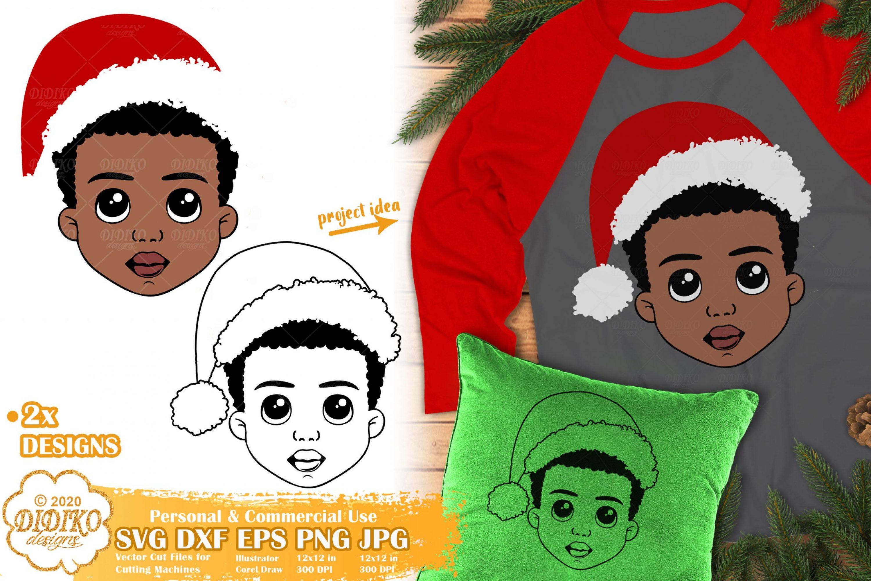 Christmas Black Boy SVG | African American Boy Svg