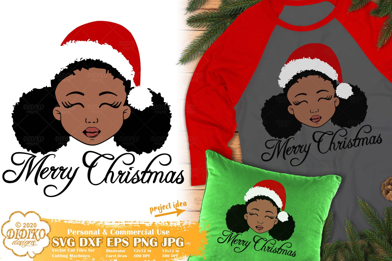 Christmas Black Girl SVG #2 | African American Girl Svg