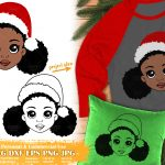 Christmas Black Girl SVG #1