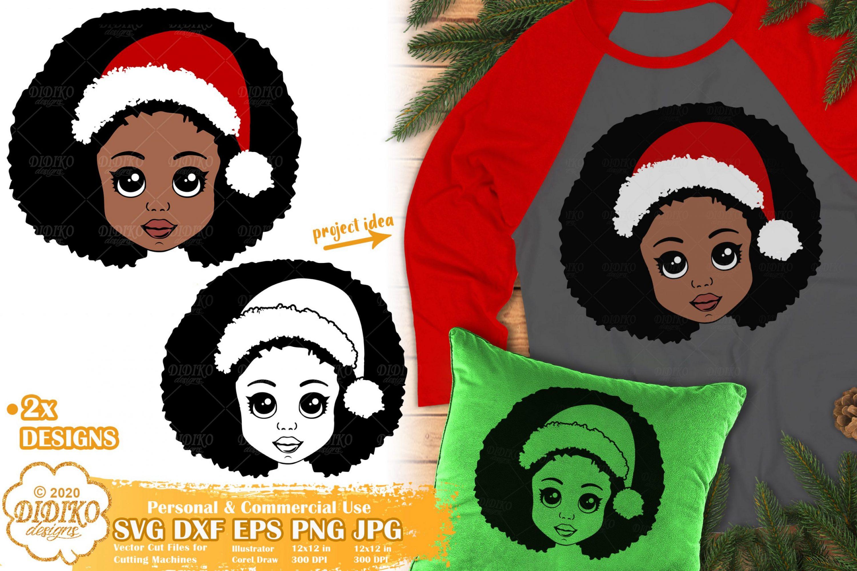 Christmas Black Girl SVG | African American Girl Svg