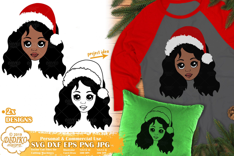 Christmas Black Girl SVG #3 | African American Girl Svg