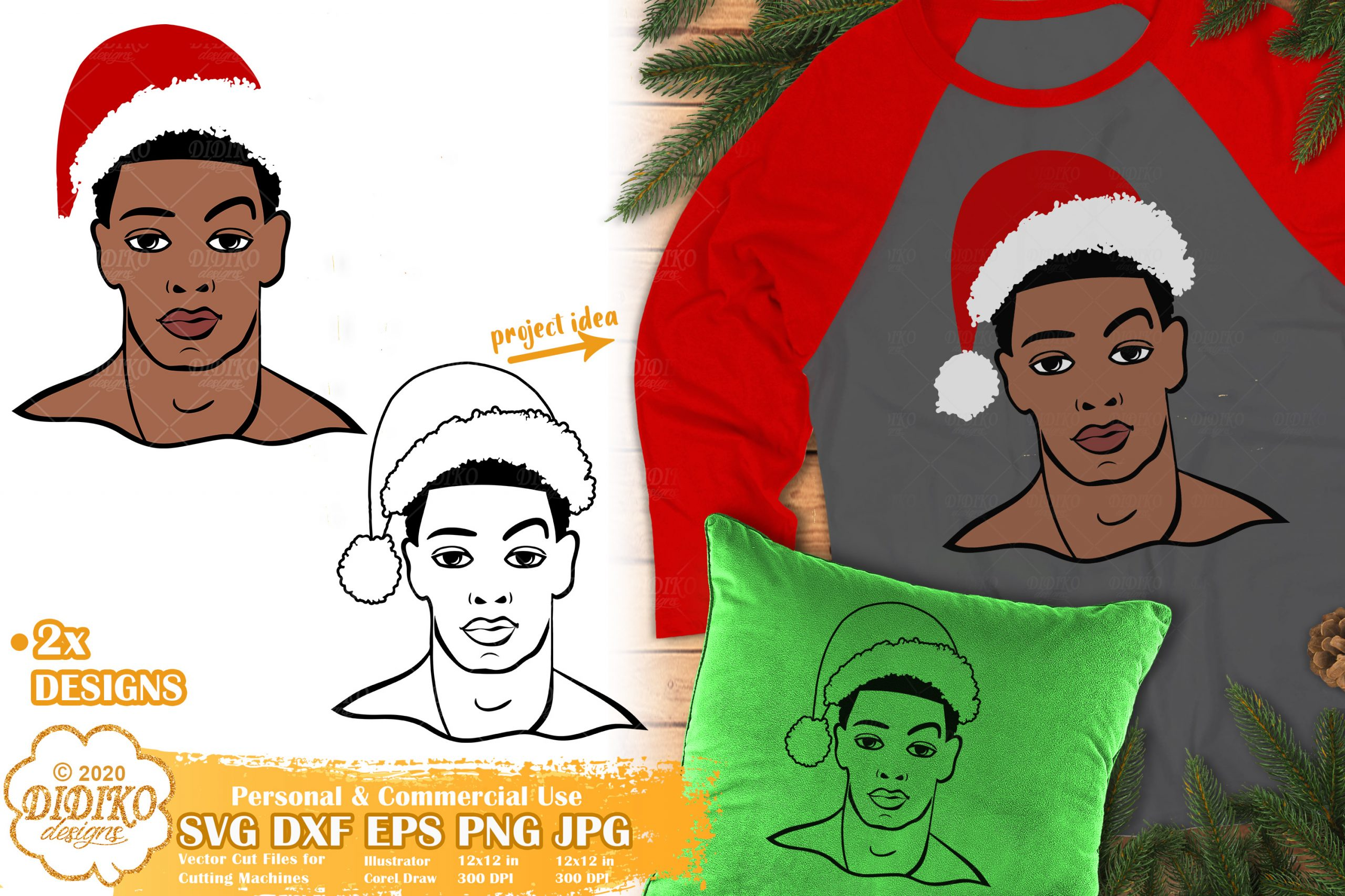 Christmas Black Man SVG