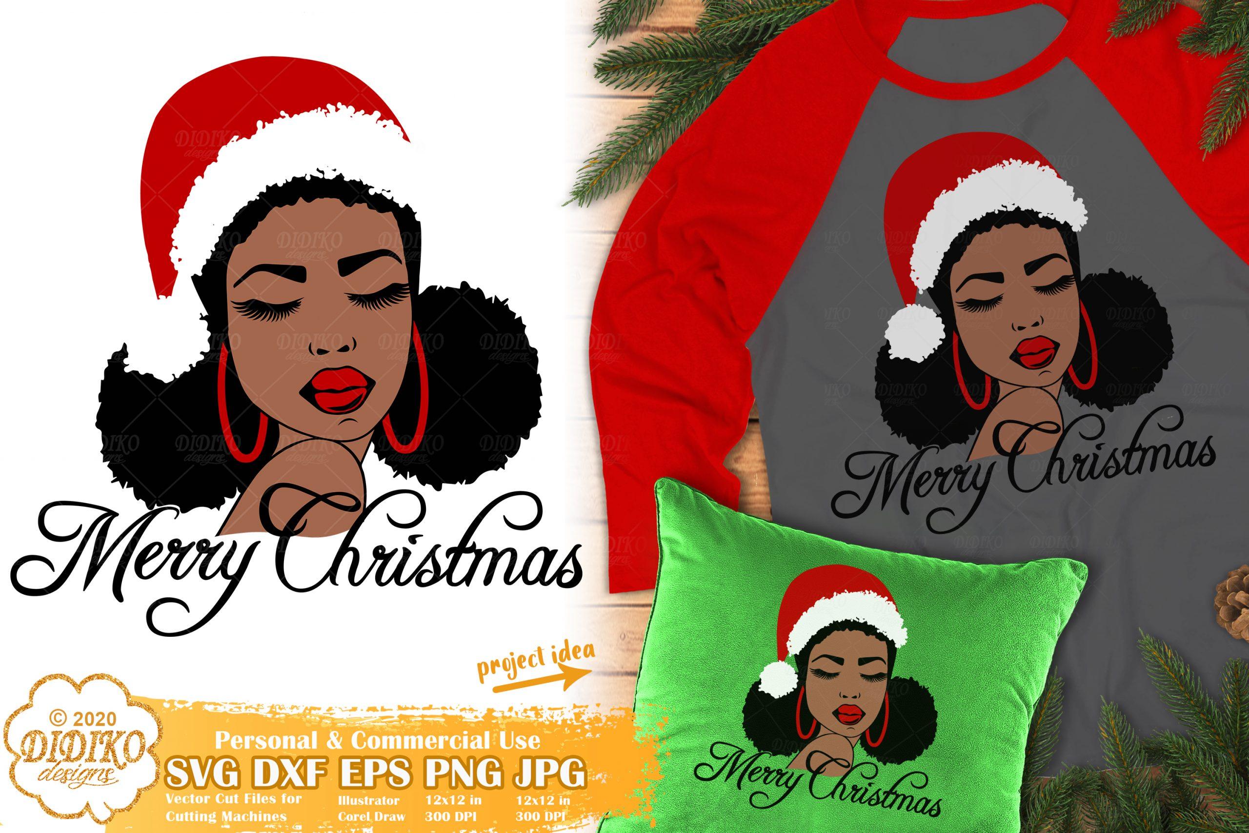 Christmas Black Woman SVG #2
