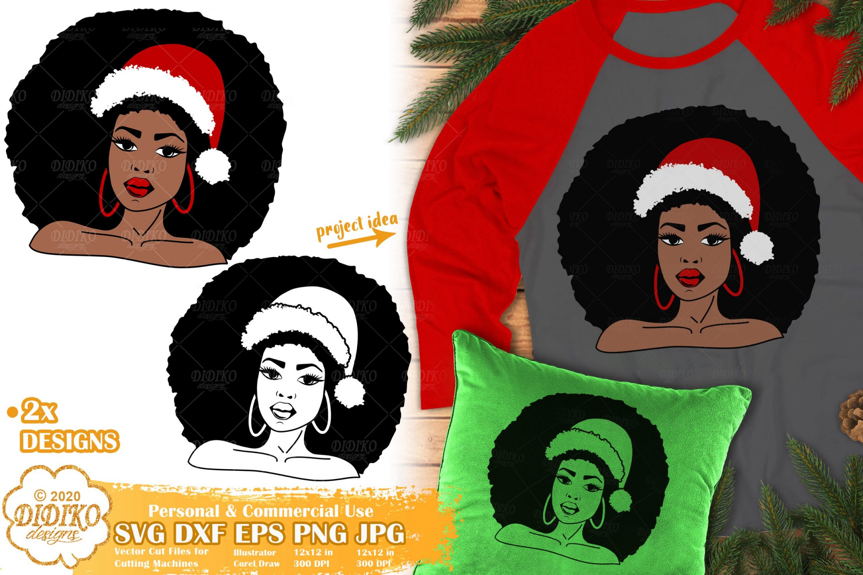 Christmas Black Woman SVG #1 | African American Svg