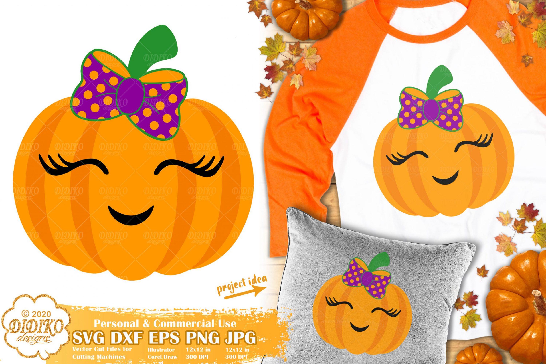 Cute Pumpkin SVG | Girl Pumpkin Svg | Halloween Svg