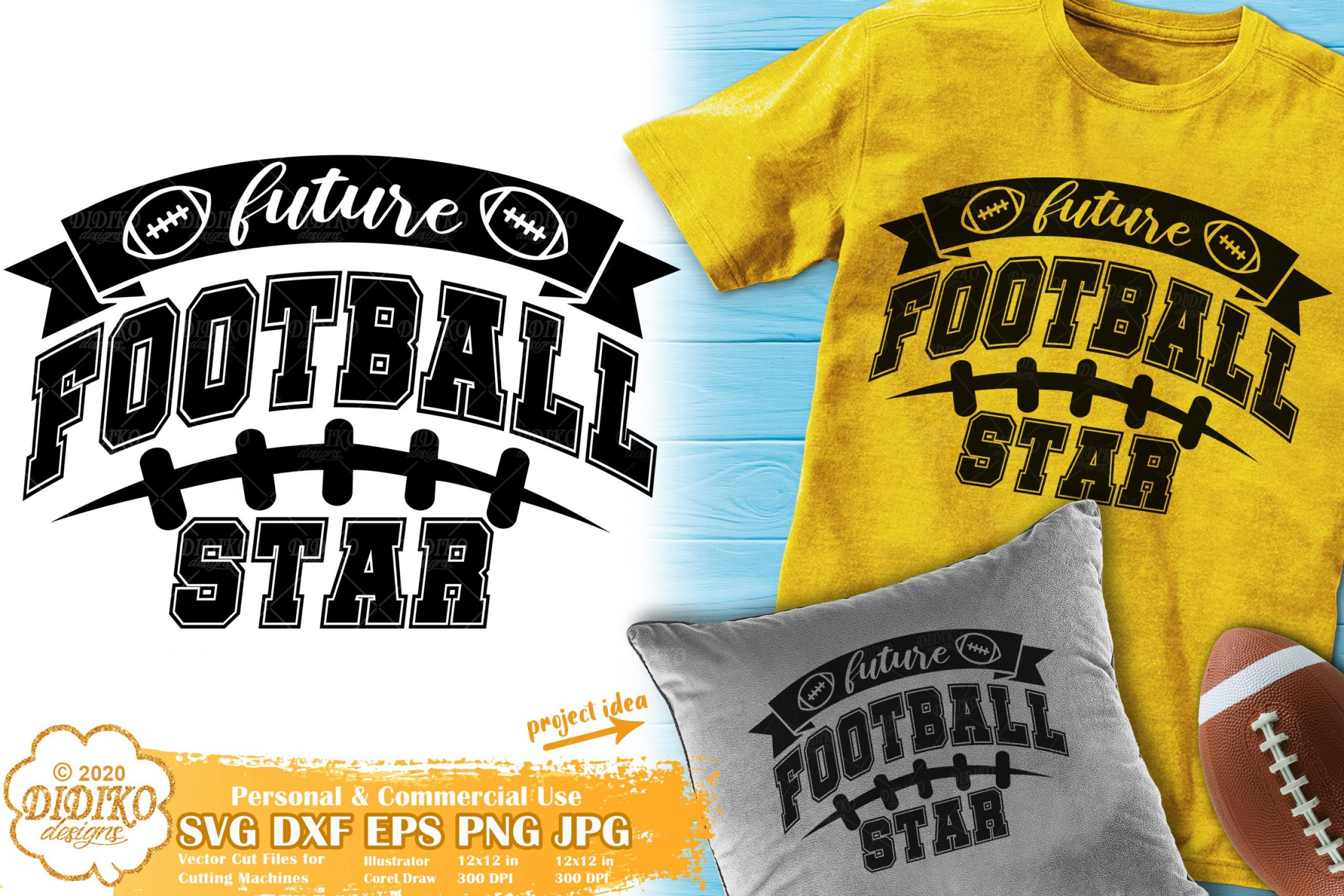 Football Baby SVG #1 | future football star svg | baby svg