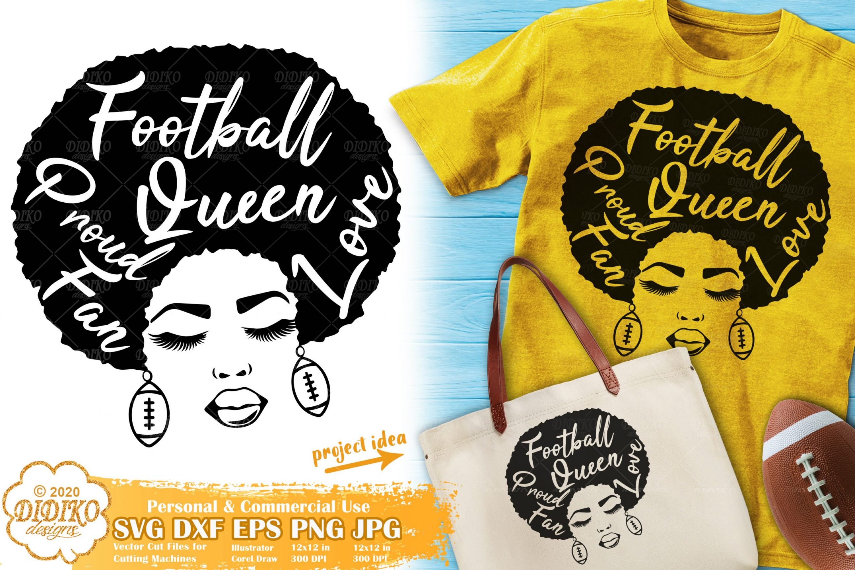 Black Woman SVG #9 | Football svg | Football team svg