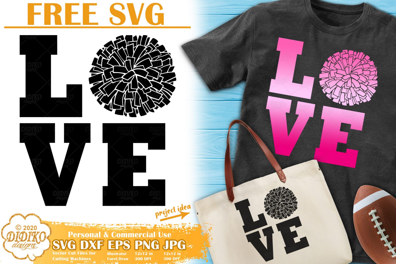 Cheer SVG Free | Cheerleader SVG Free | Love SVG