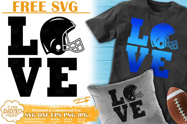 Football SVG Free #1 | football helmet svg free | love svg