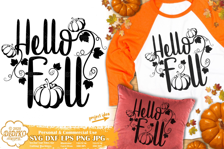 Fall SVG #3 | Pumpkin Svg | Hello Fall Svg | Autumn Svg