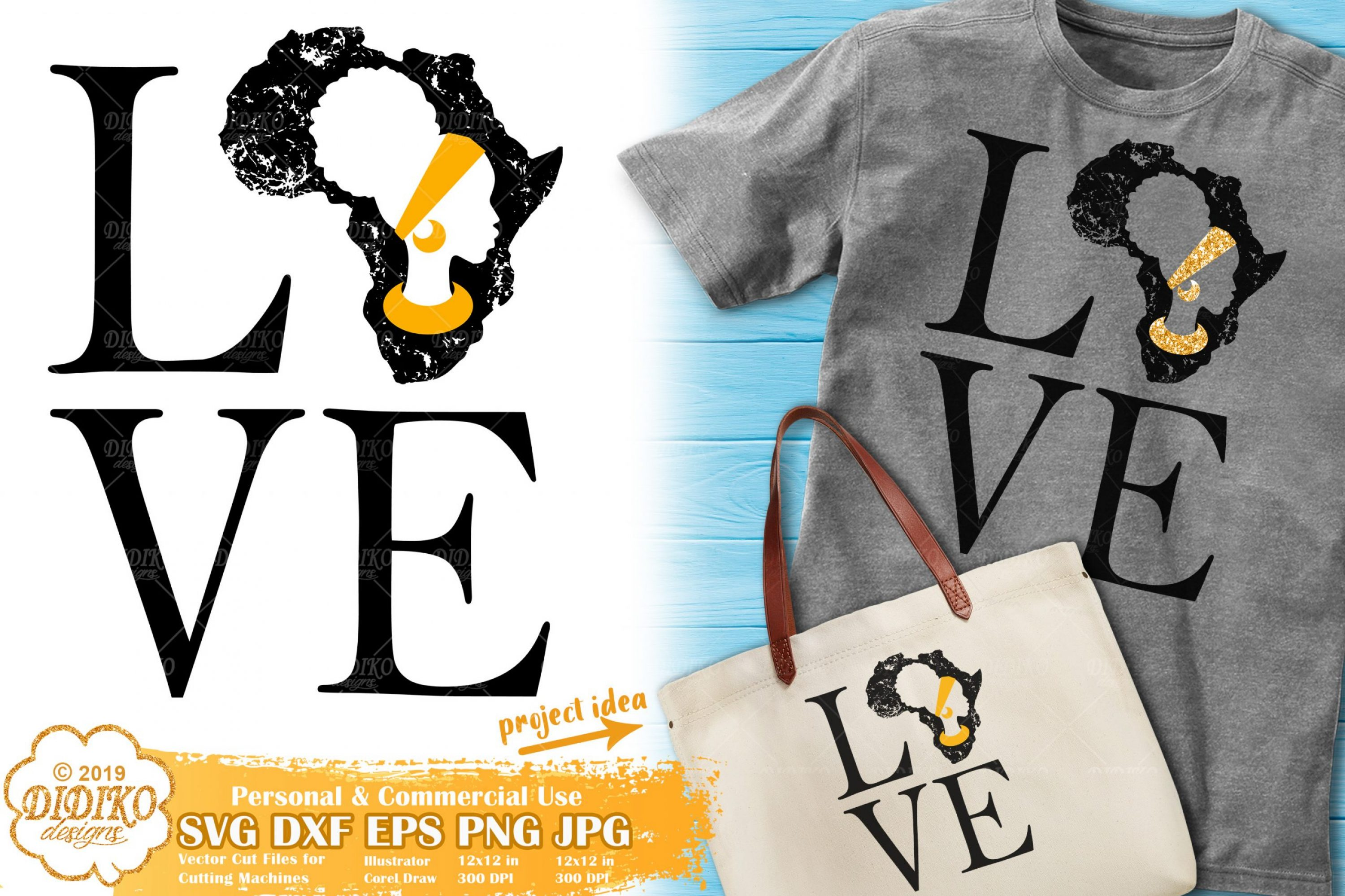 Love Africa SVG | Black Woman Svg | Africa Silhouette