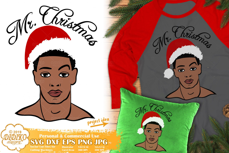 Christmas Black Man SVG #1 | African American SVG