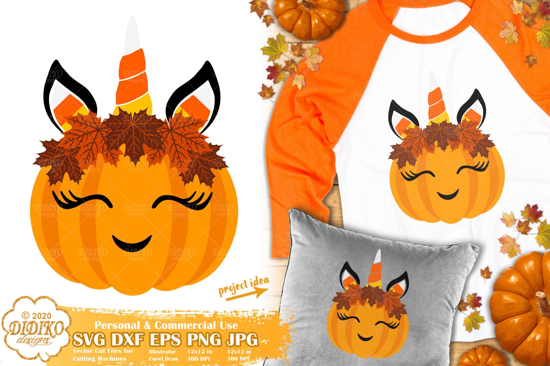 Unicorn Pumpkin SVG | Cute Halloween Pumpkin svg