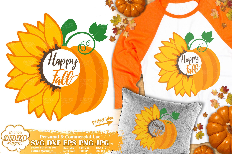 Pumpkin Sunflower SVG #3 | happy fall svg | autumn svg