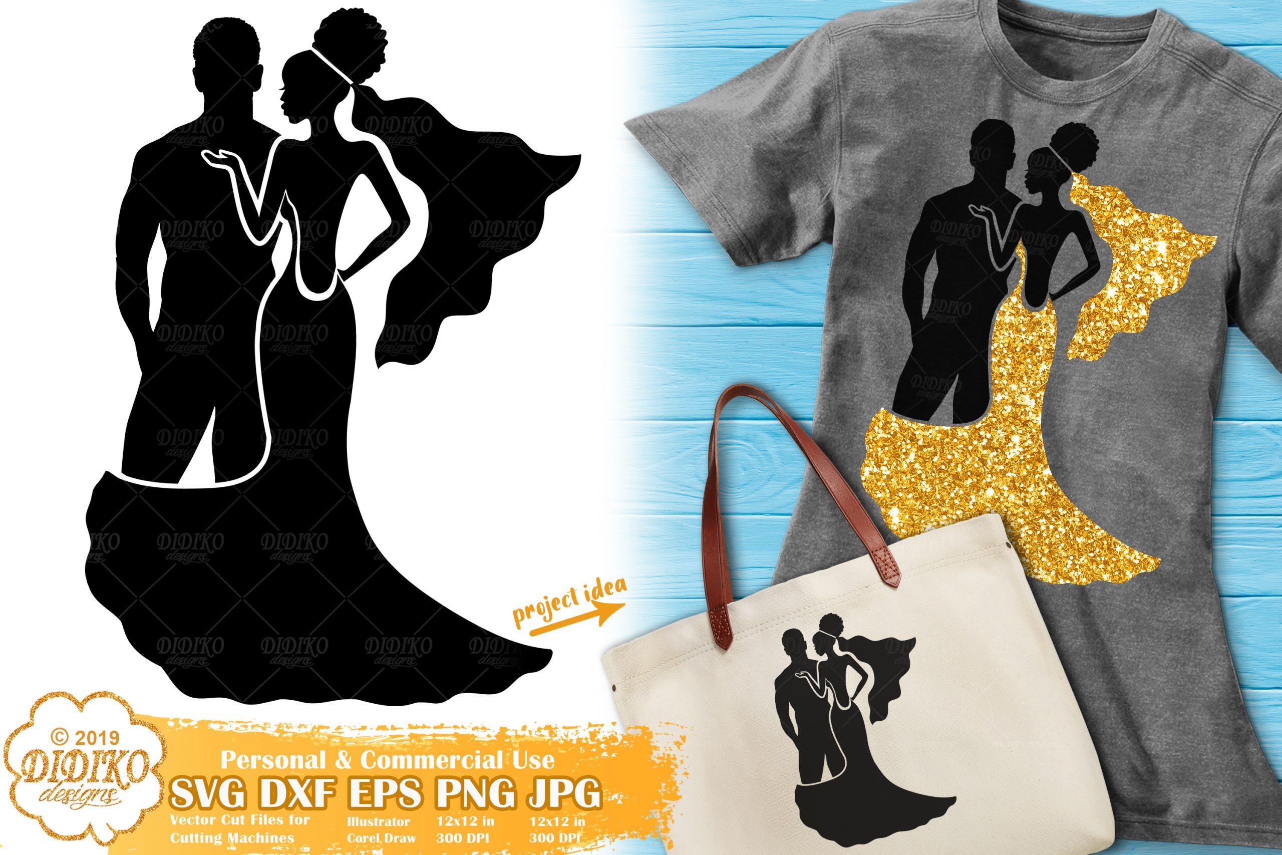 Wedding Svg Black Woman Svg Bride Svg Cut File Didiko Designs