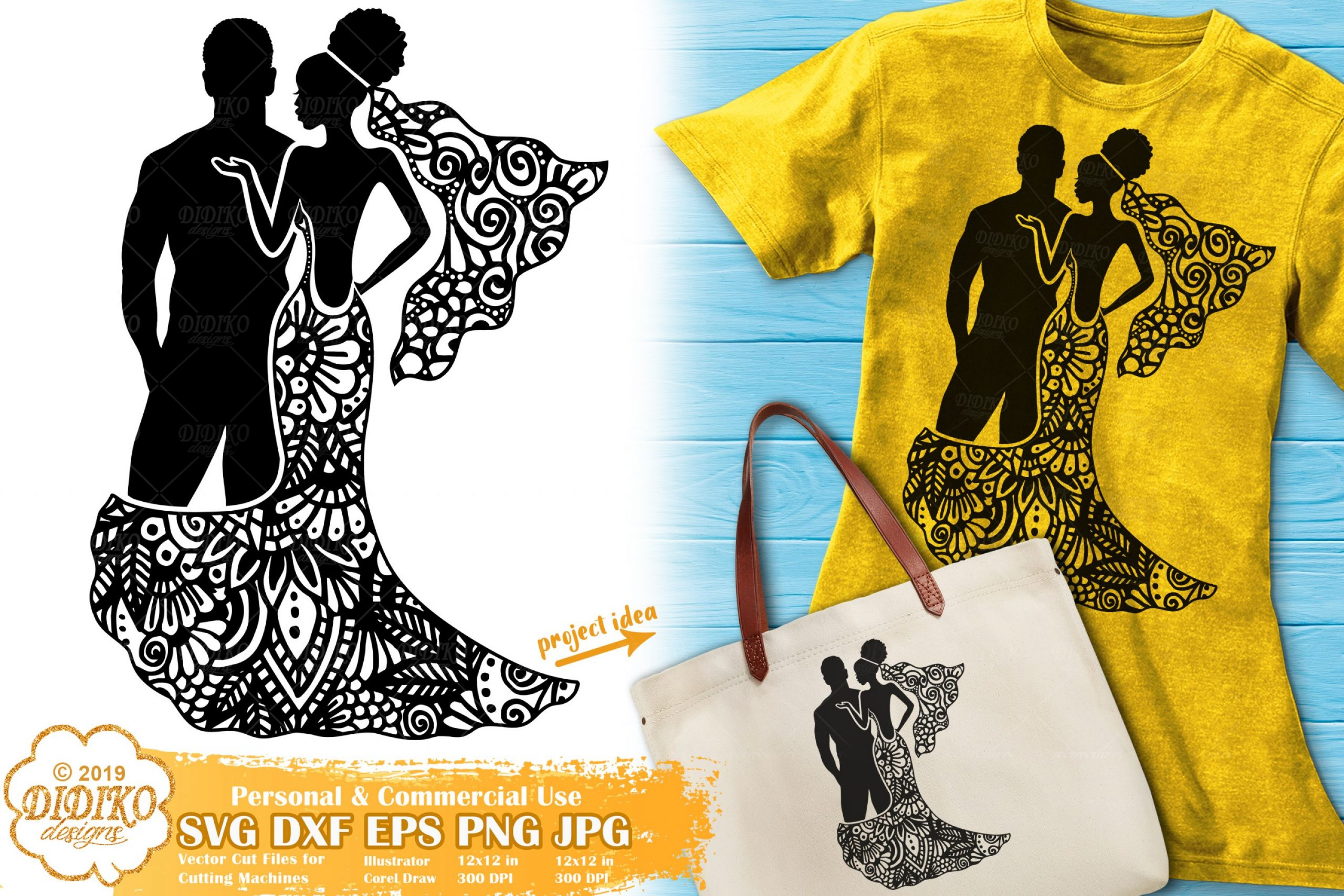 Wedding SVG #1 | Zentangle SVG | Bride SVG Cut file
