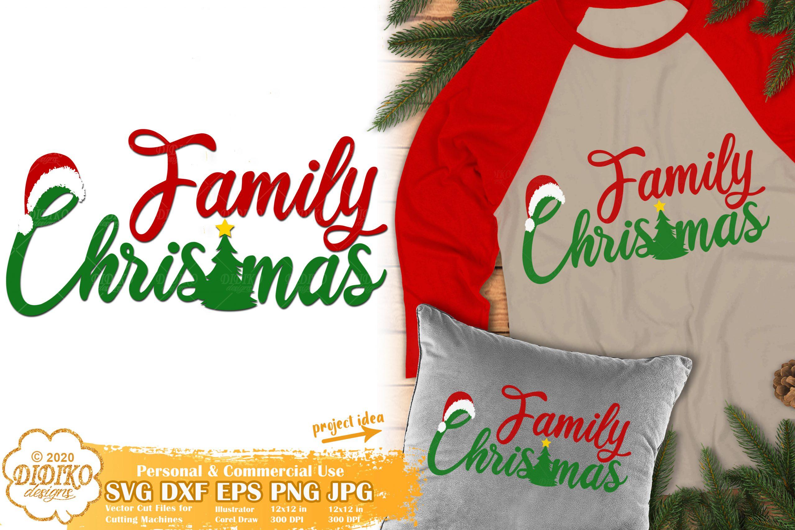 Family Christmas SVG