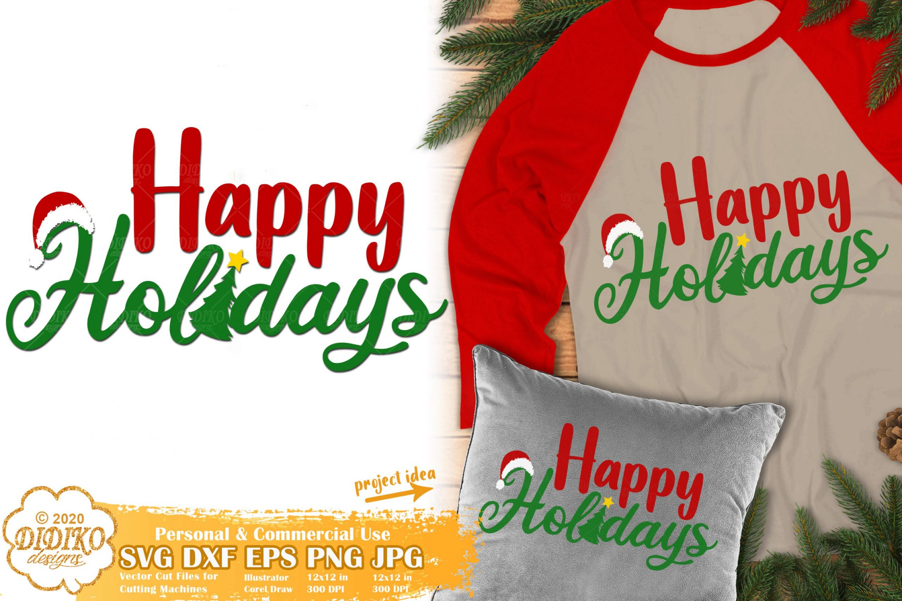 Happy Holidays SVG | Christmas SVG | New Year Svg