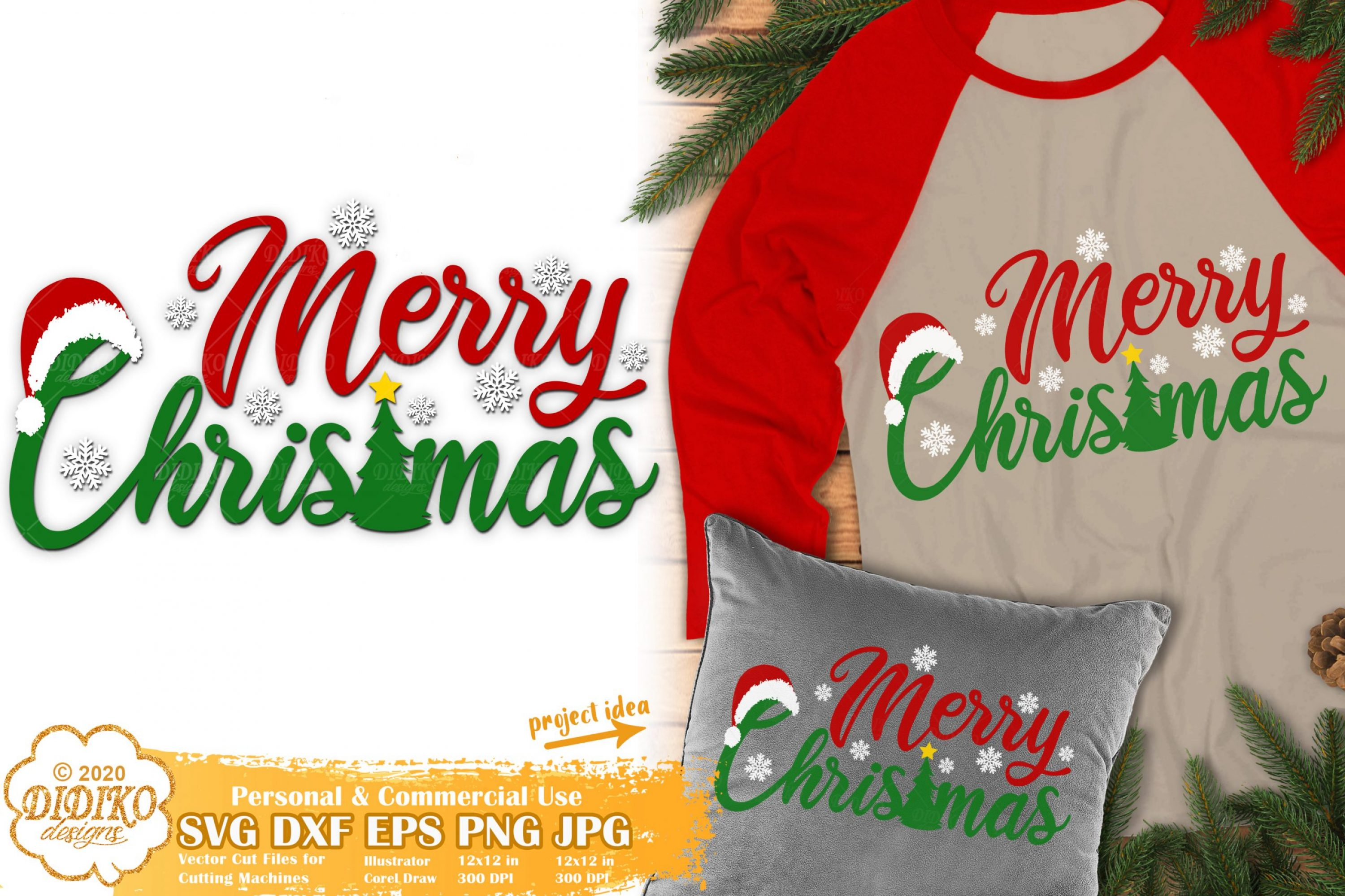 Merry Christmas SVG | Christmas Svg | Merry and Bright