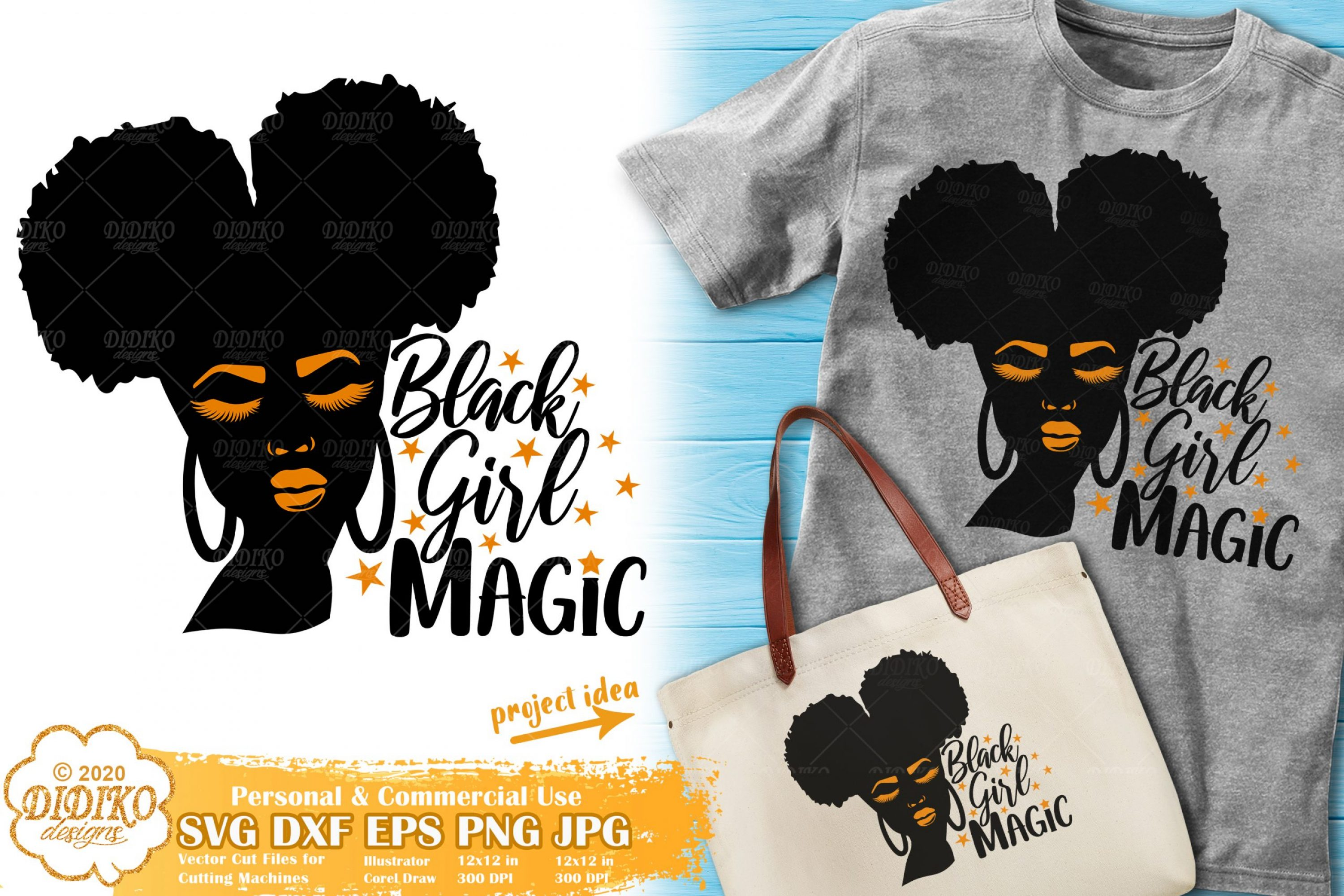 Black Girl Magic SVG #2 | Afro Woman Silhouette Svg